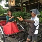 嵐山特集「人力車えびす屋」観光の強力なお助けマンとしてお役立てください♪【観光】