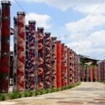 嵐山特集㉔ 友禅の彩りが美しい「嵐電・嵐山駅」は買い物や足湯など楽しい旅の玄関口