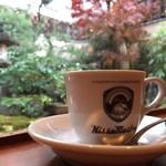 三条富小路 バッグブランドmaster-pieceに併設!「キッサマスター」でお庭を眺めながら可愛いラテを堪能♪【カフェ】