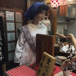 【祇園】マネキンがお出迎え!外国人客に大人気!!異彩を放つ名店はテイクアウトが狙い目☆お好み焼き「壱銭洋食(いっせんようしょく)」
