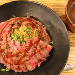 西院*これぞステーキ丼の元祖!やっぱり激ウマ「佰食屋(ひゃくしょくや)」のステーキ丼【国産牛】