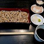 日本酒と蕎麦が楽しめるスタイリッシュな空間「京都 中之光庵(なかのこうあん)」@四条寺町