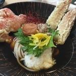 新食感の柔らかうどん!天ぷらもうまい!「石臼うどん専門 麺達」@二条新車屋町通への巻っす