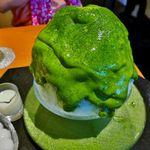 【話題】ふわふわで巨大な宇治抹茶かき氷のエスプーマ仕立て「清水一芳園 京都本店(シミズシミズイッポウエン)」