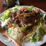 【限定5食】ボリューミーなステーキ丼!カジュアルイタリアンの「キッチン オッコベー」@東山三条の巻っす