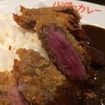 流行りのレア牛カツがのった欧米カレー!「ハラペコカレー」@深草の巻っす