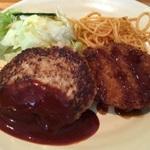 肉汁がビックリするほどあふれ出すハンバーグ!「手づくりハンバーグの店 とくら 新堀川店」@竹田の巻っす