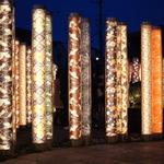 【新名所】友禅の華やかで優しい光が「嵐山駅」を包みます!「キモノ・フォレスト」
