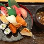 中トロ入りのランチセットがオトク!気軽に美味しいお寿司を「回転寿司 清水港(しみずみなと)」