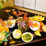祇園のゴージャスなお座敷で懐石料理仕立ての美しく華やかなフレンチを堪能「匠 奥村」