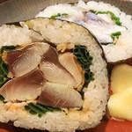 理髪店跡のカウンター割烹!名物の鯖寿司が食べてたくて「和食晴ル」@四条烏丸の巻っす