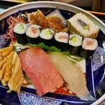ビジネス街の京寿司店!風物詩の蒸し寿司を「いづ源北店」