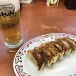 アツアツの餃子とビール!これ以上に安くて美味いセットはそうありません!「餃子の王将」