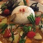 野菜たっぷりで彩りキレイ薬膳カレー「京薬膳カレー 百味飲食」@五条若宮の巻っす