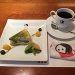 ディリーユースにしたい万能カフェ★至福の美味しさお抹茶チーズケーキ*よーじやカフェ三条店
