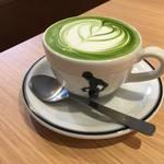 艶々、滑らかで秀逸な抹茶ラテ「Okaffe Kyoto(オカフェ)」【四条烏丸】