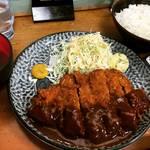 【京都元田中】ガッツリ塊肉好きさん必見!行列必至の人気とんかつ店はビフカツも旨し☆「おくだ」