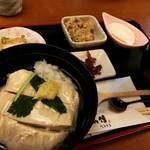 【京都ランチめぐり】正月明けは癒しの生ゆば丼ランチ!大豆の味がこだまする☆「とうふ処 豆雅傳(とうがでん)」