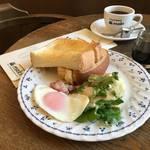 王道スタイルの平日限定モーニング『コーヒーハウスマキ』【出町柳】
