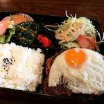 【京都ランチめぐり】オフィス街の人気喫茶店のボリューミーハンバーグ弁当!通し営業が◎「キャンティ」