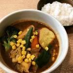 【京都ランチめぐり】ゴロゴロ野菜がたっぷり!スパイシーなスープカレー専門店☆「かれー屋ひろし」