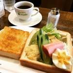 【京都モーニングめぐり】出町柳の有名な人気喫茶店!名物くり抜きトーストのモーニング必食☆「コーヒーハウスマキ」