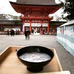 【京都冬の風物詩】世界遺産で食べる小豆粥!無病息災を願う小正月の御粥祭☆「下鴨神社」