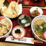 【京都ランチめぐり】通し営業でコスパ最強のサービス定食必食!比叡山坂本の宮内庁御用達蕎麦「鶴喜そば」