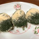 ふくよかに香る濃い緑の よもぎ餅が凄く美味しい☆京菓子司「笹屋春信」
