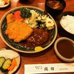 【京都とんかつめぐり】デミグラスソース仕立ての洋食味!家庭的で和むお店☆「とんかつ&ステーキ 岡田」