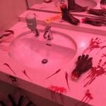【京都ホラーWEEK】トイレなのに失禁注意!お化け屋敷風デコレーションで話題騒然☆「たろうちゃんのわすれもの~死条河原町~」