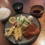 【京都ランチ】とんかつに豚天が絶品「ブタ天とんかつマルミ」(JR円町駅)