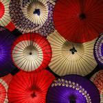 【嵐山】幻想的で雅やか。嵐山花灯路2019期間中和傘のライトアップが楽しめます♪「嵐山昇龍苑」【京都ライトアップ】