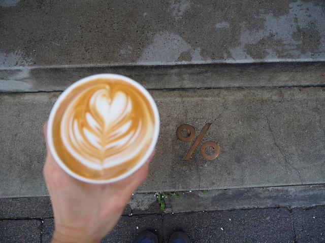嵐山の川風に吹かれながらいただくハイレベルなコーヒー『% ARABICA 』