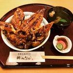 【京都ランチ】7月オープン☆はみ出す炭火焼国産鰻丼はお手軽価格で最高「千里うなぎ」