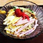 【京都ランチ】これぞ絶メシの冷やし中華!激渋うどんそば大衆食堂「まつ山」