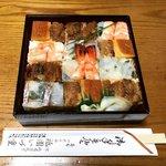 【京都寿司】明治から続く『箱寿司』は目にも美しく絶品☆祇園石段下「いづ重」