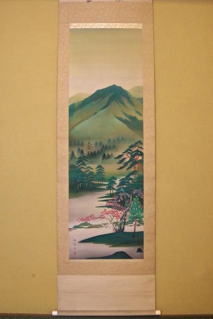 岡本神草_東山背景図