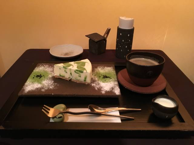抹茶レアチーズケーキセット ¥1100