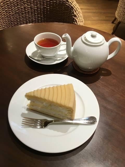 マロンケーキ(¥700)&セイロン(¥650)
