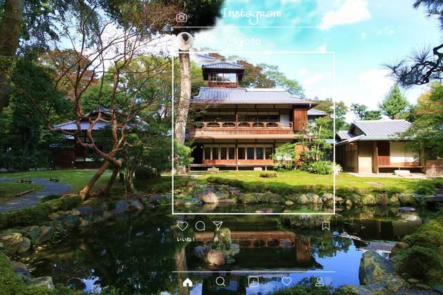 ▲建物と池の対比が美しい季節感の溢れる写真が撮れます