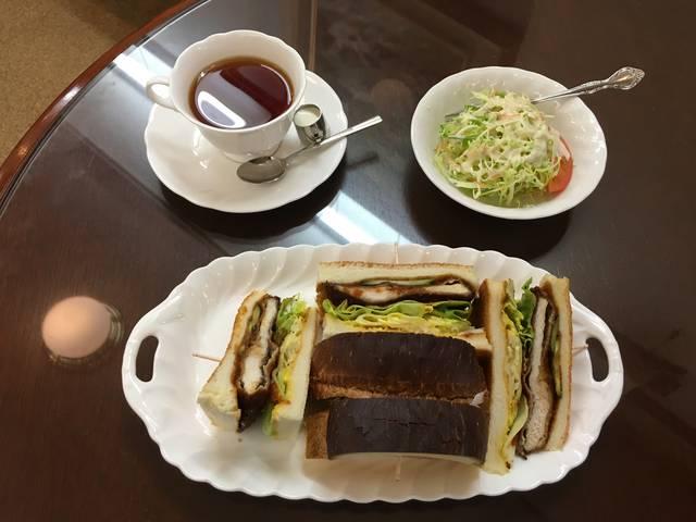 チキンカツサンドセット ¥950