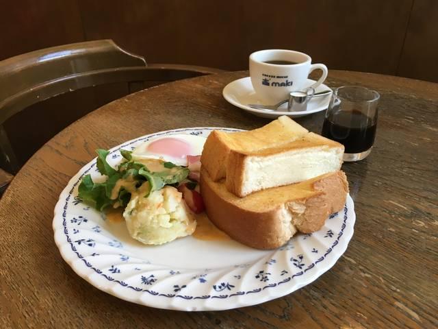 モーニングトースト(ハムエッグ、サラダ付き)¥700