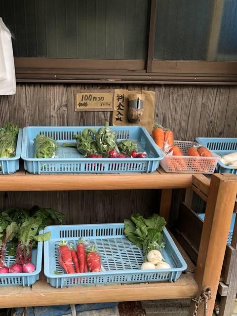 お野菜販売の場所