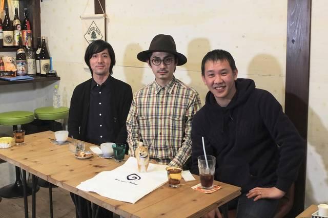 左から 田中達也さん、パントビスコさん、小野慎二郎さん。