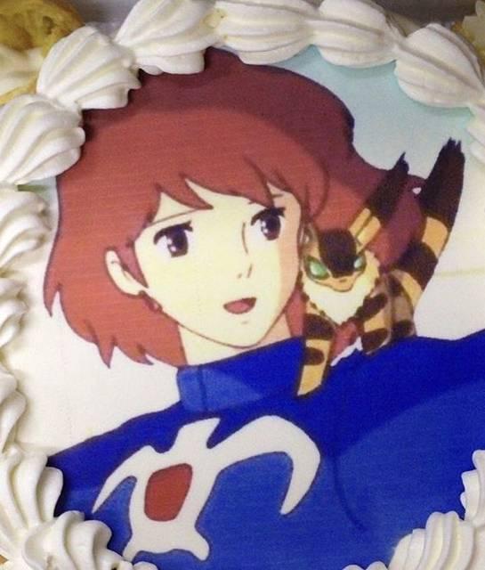写真イラストのケーキ