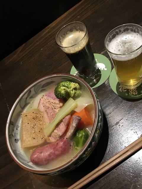 ポトフとクラフトビール(ちょい飲み手帖限定のセット)