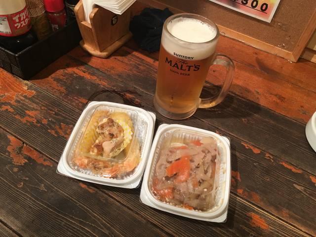 ビール&お惣菜