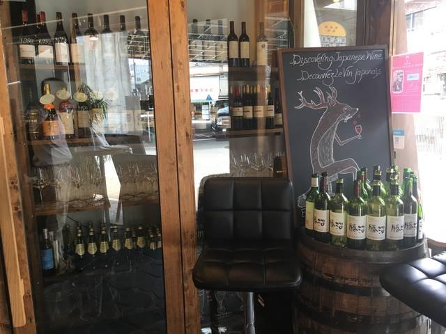 入り口横にはワインが