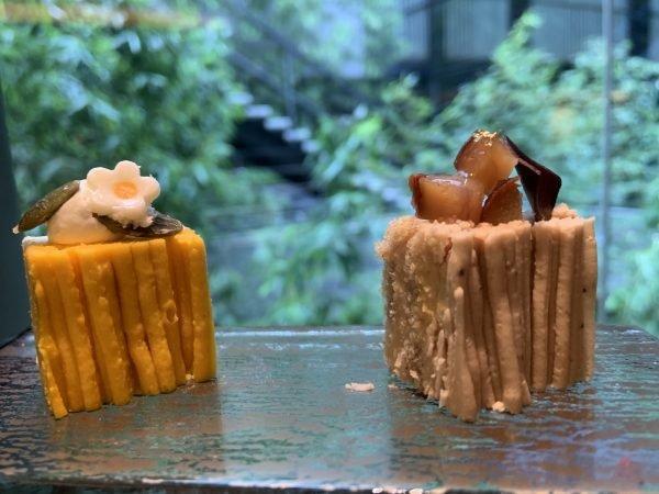 モンブランは4種 「和栗モンブラン」(右)「南瓜のモン...